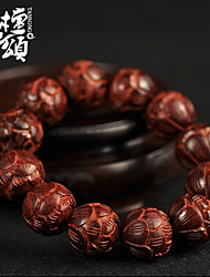 tanson®High density lobular Rosewood Fozhu hand carved on old material collection grade Bracelet