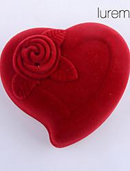 Коробки для бижутерии Ткань Красный