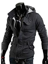 la mode manteau à capuche mince des hommes