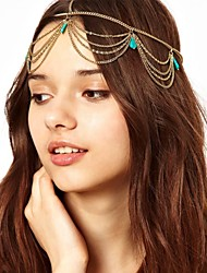 European Style Turquoise Chain Headbands