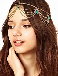 bandeaux de chaîne turquoise de style européen