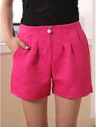 Frauen Übergrößen lässig zippe Kurzschlusshosen (weitere Farben)