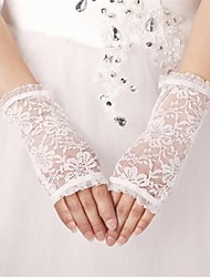 Wrist Length Fingerless Glove Tulle/Polyester Bridal Gloves