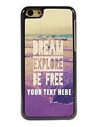Personalized Phone Case - Dream Explore Be Free Design Metal Case for iPhone 5C