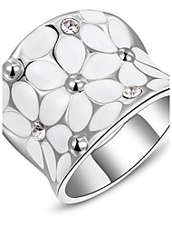 Roxi® Silver White Flower Ring