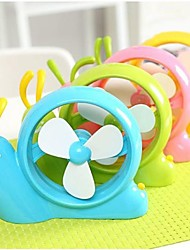 Portable Snail Shape USB Power Laptop Desk Cooling Cooler Air Fan 4 Colors