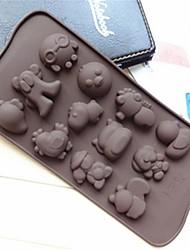 hai forme bao moule à cake gelée de glace moules de chocolat, de silicone 21,2 × 10,5 × 1,5 cm (8,3 × 4,1 × 0,7 pouces)