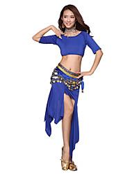 Belly Dance Dancewear Women's Silk&Velvet Elegant Outfits Including Top, Skirt, Belt(More Colors)