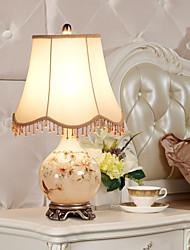 Lampada da tavolo eidehi® stile rustico vetro pittura