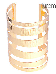 Women's Gold Plated Hammered Bangle Cuff