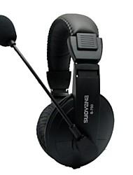 S750 jeu à double casque jack 3,5 mm sur l'oreille avec microphone pour pc