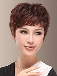 Temperament Charming of Human Hair Short Side Bang Hair Wig