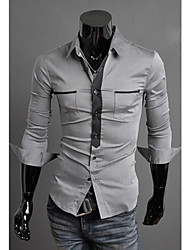 Jack Men's Casual Shirt Collar Long Sleeve Casual Shirts