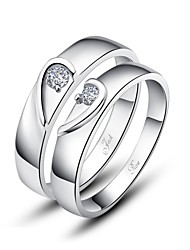 Ring Couples' Silver Silver Silver The color of embellishments are shown as picture.
