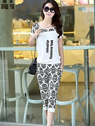 Women's Fashion Sports Suits(T-shirt& Pants)