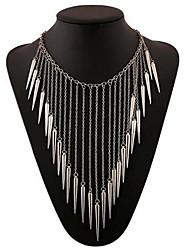 Women's Fashion Multi-level Tassel Alloy Necklace