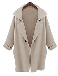 Women's Lapel Loose Big Yards Long Outerwear