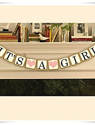 Vintage Chic Baby Shower Banner 'IT'S A GIRL' Bunting