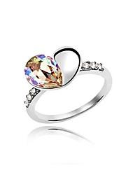 l'amour bague en cristal autrichien (plus de couleurs)