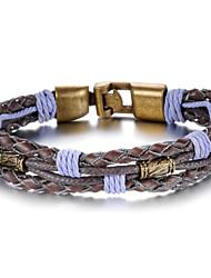 Personality Purple Leather Tongkou Men's Bracelet Christmas Gifts