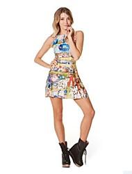 Women's Paradise Printing Sleevless Dress