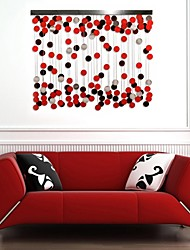E-HOME® Metal Wall Art Wall Decor, The Red Circle Decoration Wall Decor