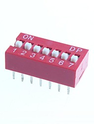 DIY 7-Position 14-Pin 2.54mm Pitch Dip Switches (10-Piece Pack)