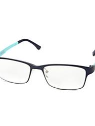 [lentes livres] retângulo de aço inoxidável full-jante óculos de grau de moda masculina