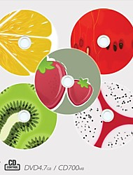 Personalized CD-R/DVD-R Recordable Disc Fruit Pattern Different Designs Magic Gift (Set of 5)