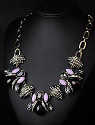 Луна Европейский драгоценный камень старинные ожерелья n00434 фиолетовый