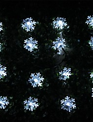 SOR-20-28 Solar Energy Lamp String Holiday Snowflakes Courtyard Garden Decoration String Light 20LED 4.8M