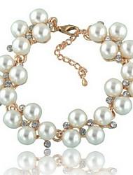 élégant bracelet de perles des femmes