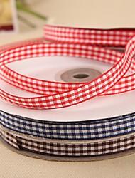 2/5 polegadas fita de cetim tartan (mais cores)