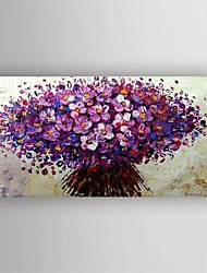 Oil Painting Modern Knife  Flower  Hand Painted Canvas with Stretched Framed