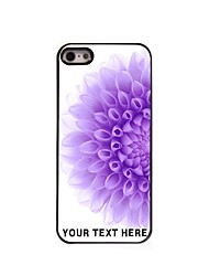 Personalized Phone Case - Half of The Purple Flower Design Metal Case for iPhone 5/5S