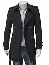 Vito Men's Casual Stand Long Sleeve Coats & Jackets