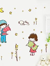pared calcomanías pegatinas de pared, de dibujos animados de buenas noches bebé pvc pegatinas de pared