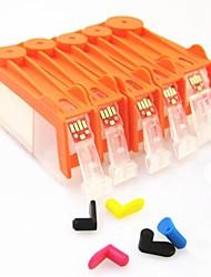 cartouche d'encre rechargeable Bloom pgi225bk-226bk-226c-226m-226y Canon PIXMA MG8120 de / 6120/5220/5120/5210 (5 1set de couleur)