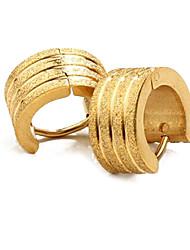 oro de la personalidad de los hombres de acero de titanio moler arenisca pendientes chapado joyas de oro
