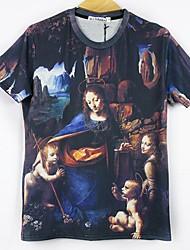 dos homens extras todos os prints jogo 3d ocasional t-shirt