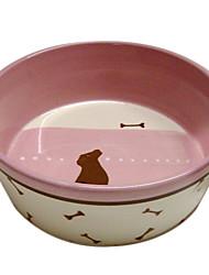 motif de chien bol de nourriture en céramique pour animaux chiens
