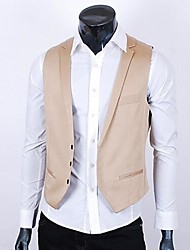 ZIMO Men's Autumn Vest Single Row Three Button Waistcoat