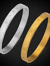 u7® chiffres romains 316L bracelets bracelet manchette en acier inoxydable ne se fanent jamais