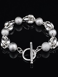Woman's Fashion Personality Silver Plated Bead  Bracelet
