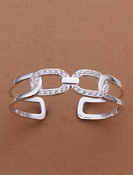 Facing Double Cross Silver Plated Bracelet