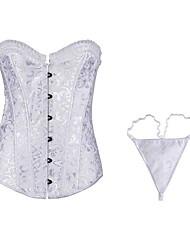europa corsets strapless shapewear e g-string conjunto das mulheres