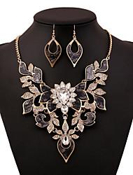Shangxing старинные заявление кристалл ожерелье женщин