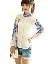 Европейская мода элегантный дешевые рубашки zha.mi женщин