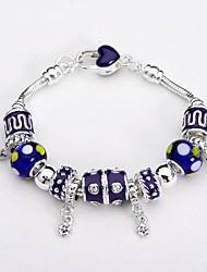 Silver Plated Glass Bead Bracelet
