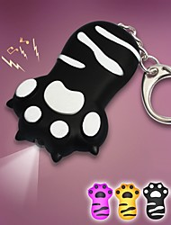 Lovely Cat Claw LED Sound Keychain(Black&Yellow&Purple&Blue)